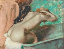 showering together - degas woman