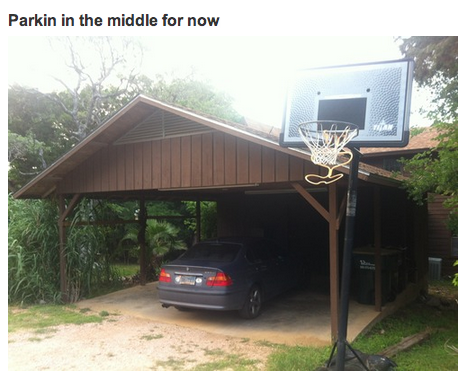 two car garage, one car - the single parent