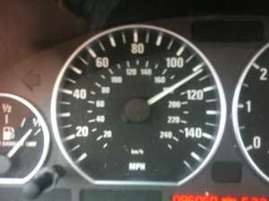 speeding towards her