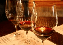 a flight of wine