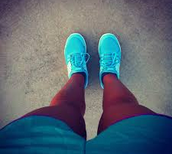 girl in running shoes