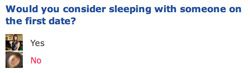OK CUPID question, would you sleep with someone on the first date?